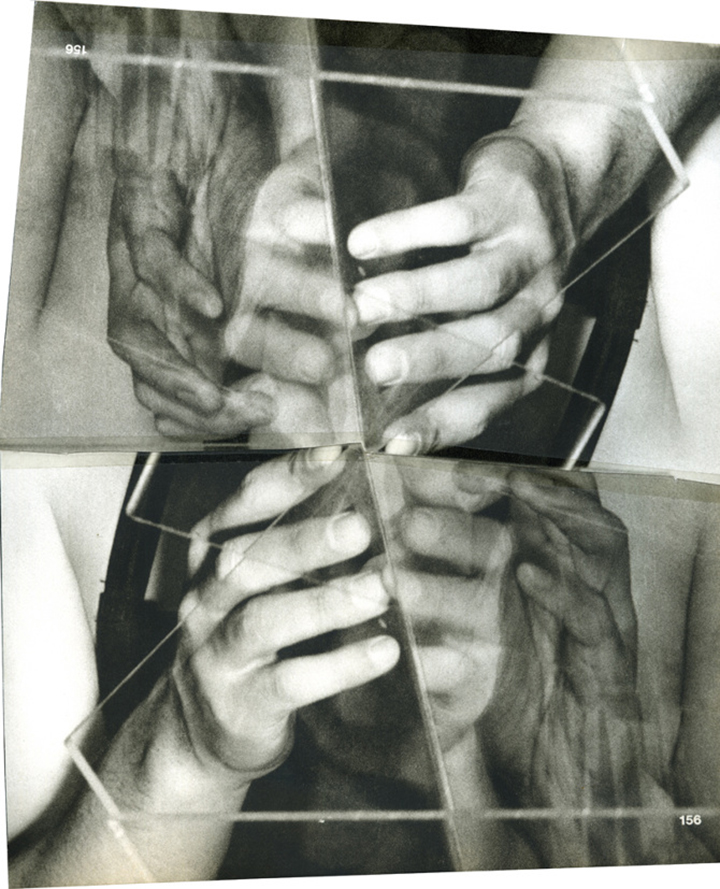 """IMAGE   Annie MacDonell, """"untitled collage"""", 2010, book pages and splicing tape"""